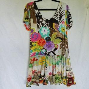 Jam's World aloha midi dress short sleeve, small